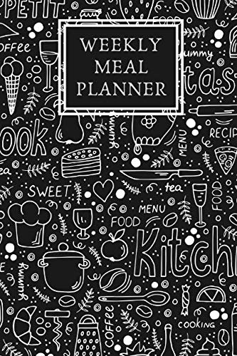 Weekly Meal Planner & Organizer: Plan Ingredients & Grocery List To Organize Prep & Cook Time | 52 Week Planning With Daily Tracking Diary | Notebook to Track Meals by JB BOOKS