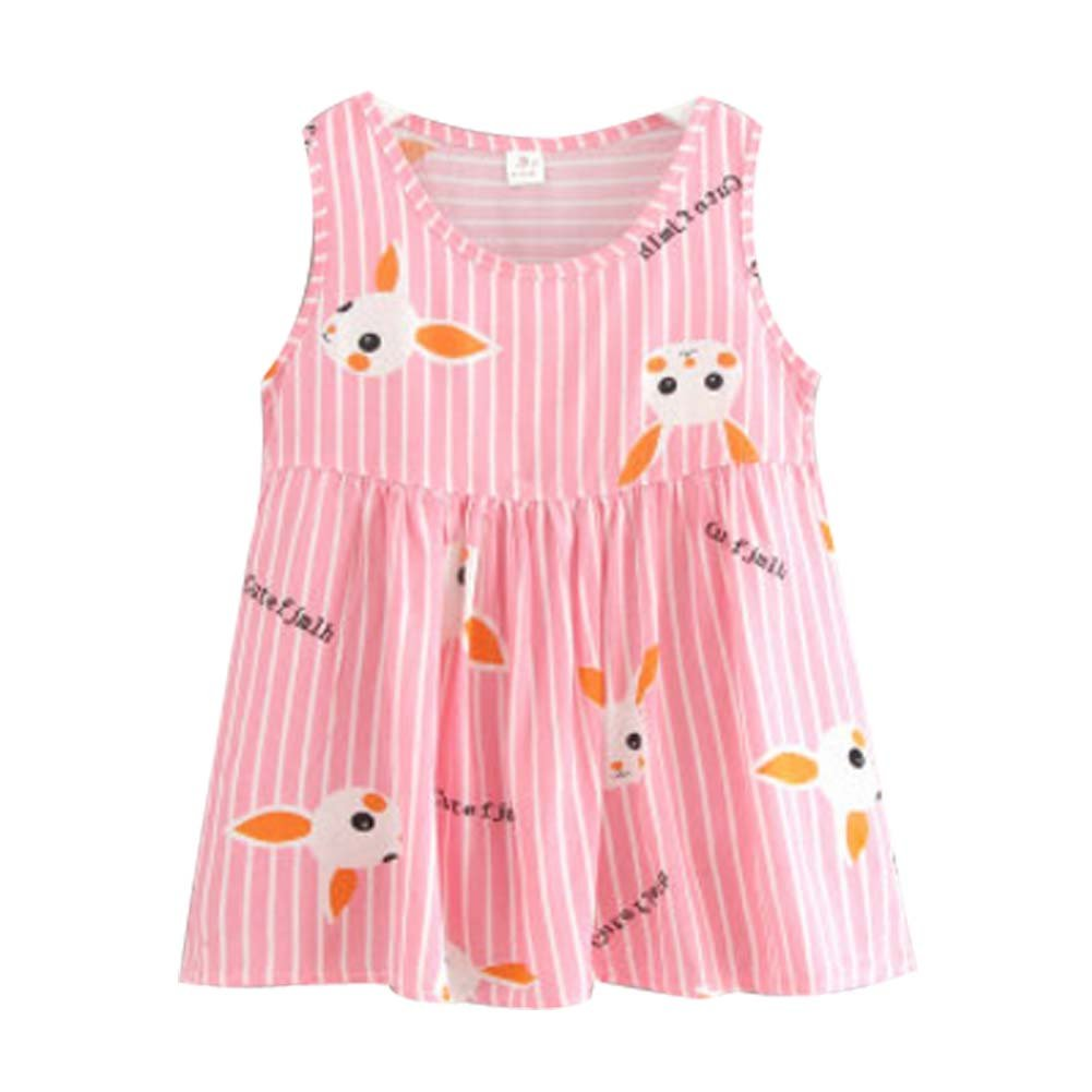 Koala Superstore [W] Kids' Pajama Home Nightdress Sleeveless Cotton Dress Vest Skirt for Girls