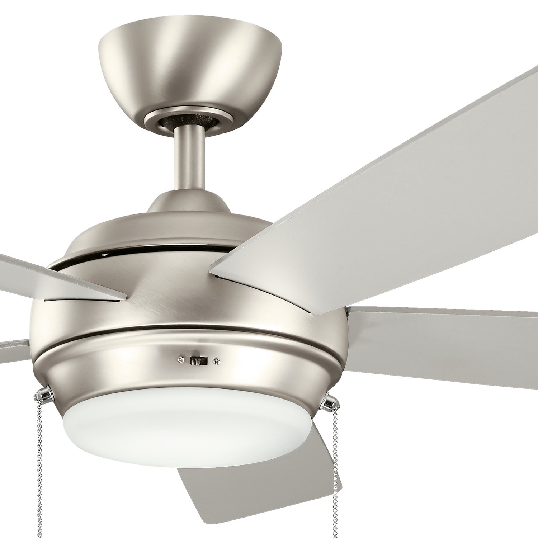 Kichler 300173NI, Starkk Brushed Nickel 52 Ceiling Fan with Light