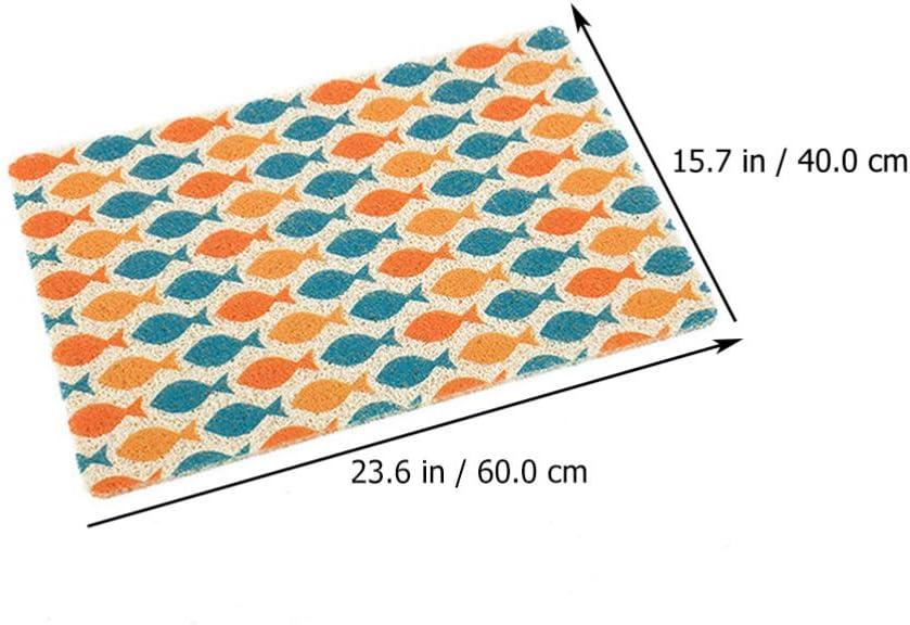 Balacoo Cat Litter Mat Waterproof Scatter Control Litter Box Mats Ground Litters Catcher Doormats for Small Medium Dogs Cats