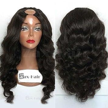 cadd37e7a Zax Hair For Black Women U Part Wig Body Wave Glueless U Part Human Hair  Wigs