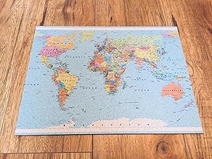 Amazon map cork board beautiful decorative 16 x 12 inch map cork board beautiful decorative 16 x 12 inchworld map cork world gumiabroncs Images