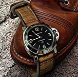 Custom 26mm Handmade Premium Calf Leather Watch Band Gunny Straps - Mission Impossible 1