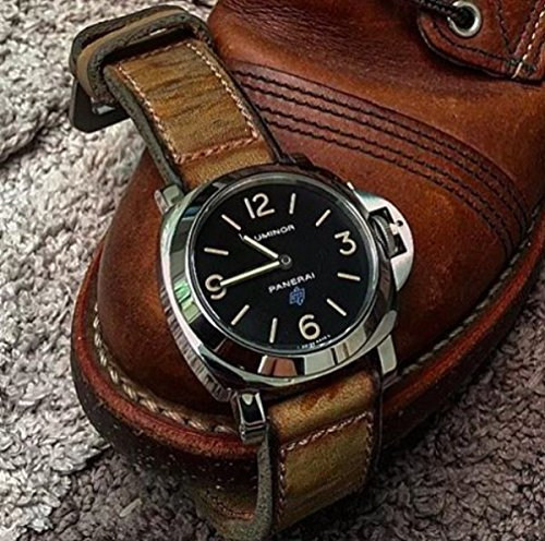 Custom 26mm Handmade Premium Calf Leather Watch Band Gunny Straps - Mission Impossible 1 by Gunny Store