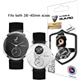 Withings Steel HR 36-40mm Screen Protector (2 Units) Invisible Ultra HD Clear Film Anti Scratch Skin Guard - Smooth / Self-Healing / Bubble -Free By IPG