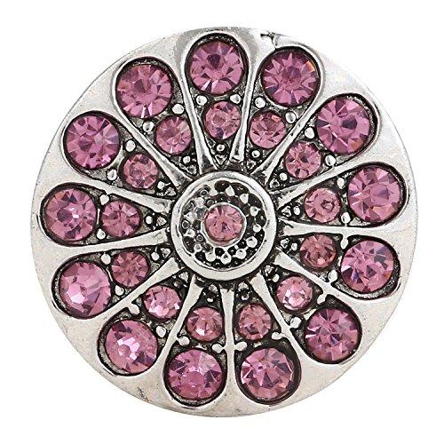 Morella click-button ® femme lot de 3 boutons pression pour bijou femme à motifs en forme de croix avec strass et boutons colorés