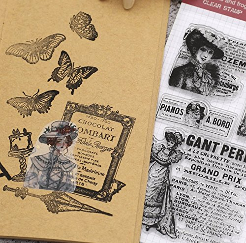 Layhome Vintage Clear Stamp Stamping Scrapbooking Notebook Album Cards Decor (Character Scrapbooking) by Layhome (Image #2)