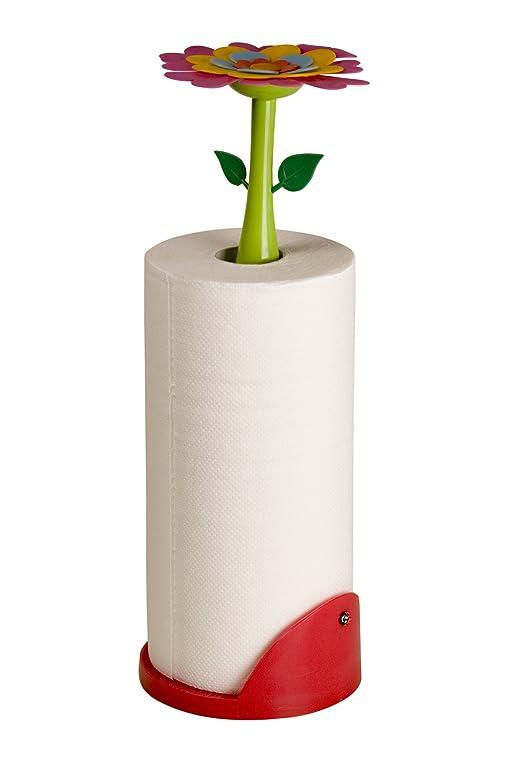 Halter Für Küchenrolle Flower Power Inkl. Papierrolle: Amazon.De