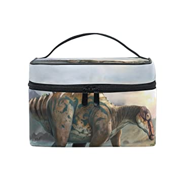 ALIREA Dinosaur Art Cosmetic Bag Travel Makeup Train Cases Storage Organizer