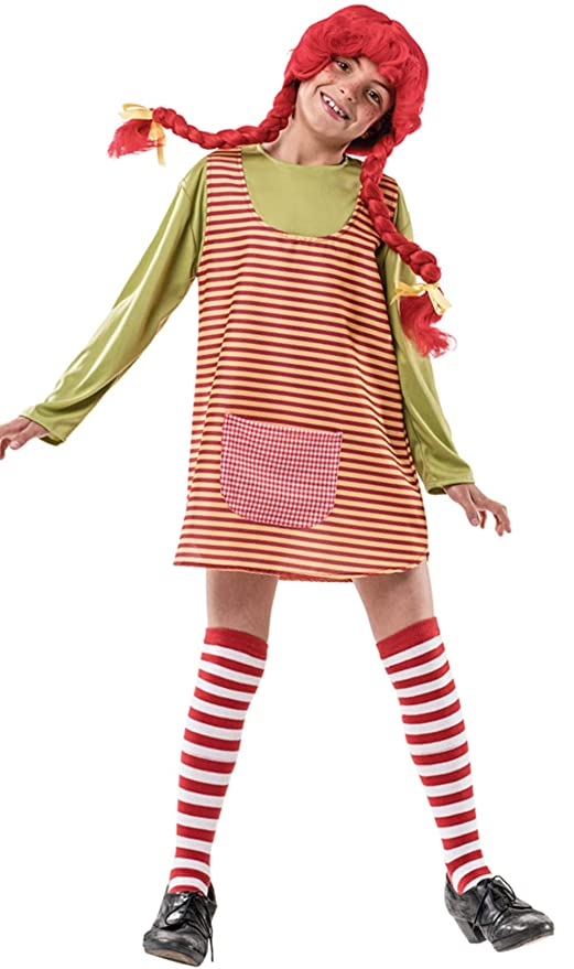 5b5e7f97f114f Costume da Pippi Calzelunghe a Righe per bambina P2-(6 7 anni ...