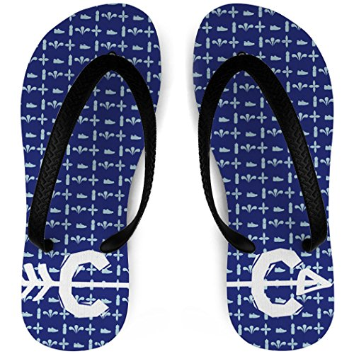 Track and Field Flip Flops Cross Country Love Blue R4nirYV