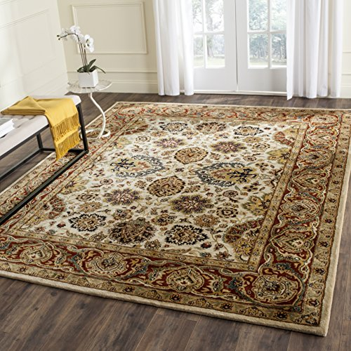 Safavieh Persian Legend Collection PL539A Handmade Traditional Ivory and Rust Wool Area Rug (3