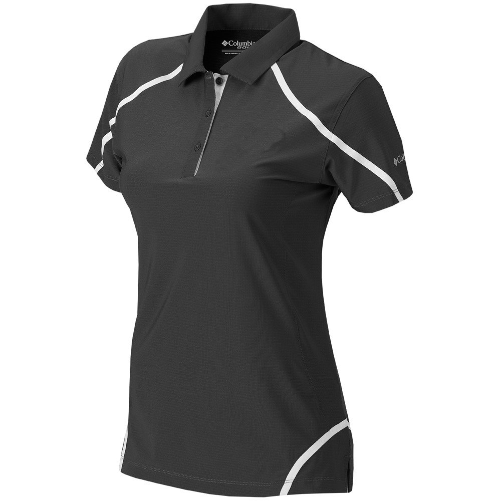 Columbia NEW Women's Golf Omni Wick Cut Away Polo Black Size Large