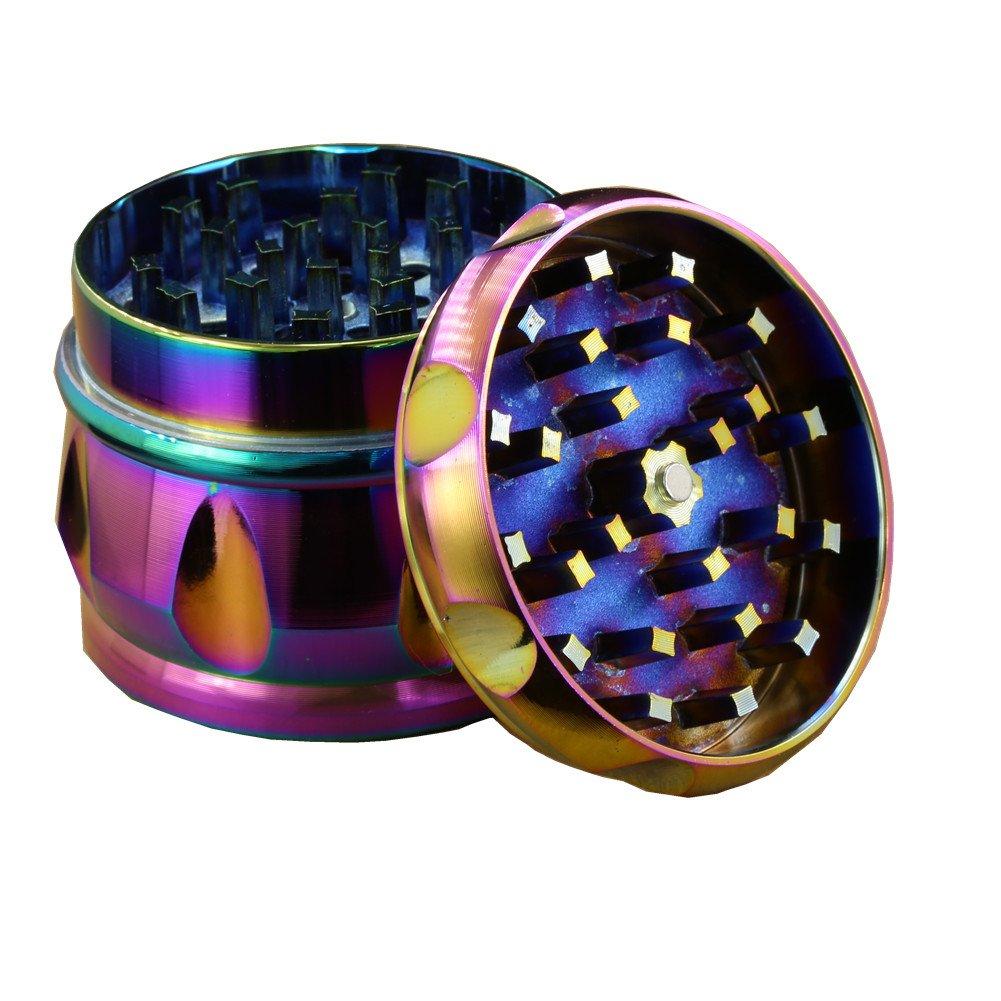 Engshwn New Design Drums Premium Zinc Alloy Colourful Pollen Spice Tobacco Herb Grinder with Pollen Catcher 4 Pieces 63mm