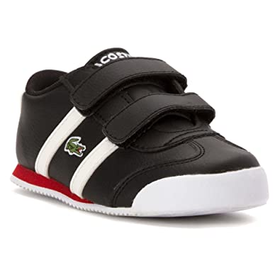 19403b7682254 Lacoste Boy s Tourelle CLC Toddler Black White 5.5T M  Buy Online at ...