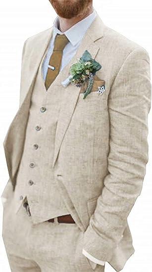 Men/'s Iovry Tweed Suit Herringbone Check Tuxedos Groom Wedding suit Custom Made