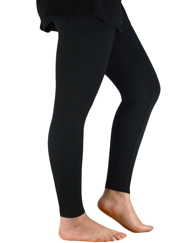 Azue Women's Ultra Soft Cooling Bamboo Capri Leggings Summer Casual Lightweight Pants Plus Size Black 4XL (US Size XL)