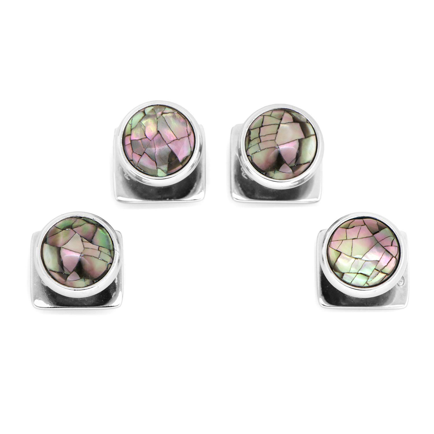 Ox and Bull Trading Co. Mosaic Smoke Mother of Pearl Studs