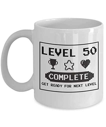 Amazon Happy 50th Birthday Mug Gaming Geek 1967