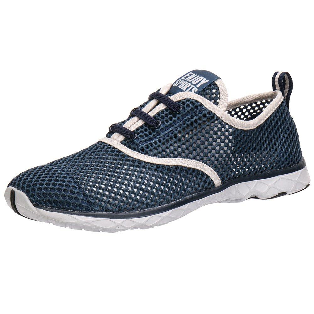 Aleader Men's Quick Drying Aqua Water Shoes Blue 10.5 UK- Buy Online in  Andorra at andorra.desertcart.com. ProductId : 48639931.