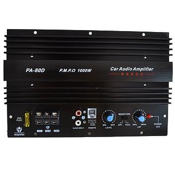 Amazon com: PA-80D AMP Car Subwoofer Amplifier 1000W Power