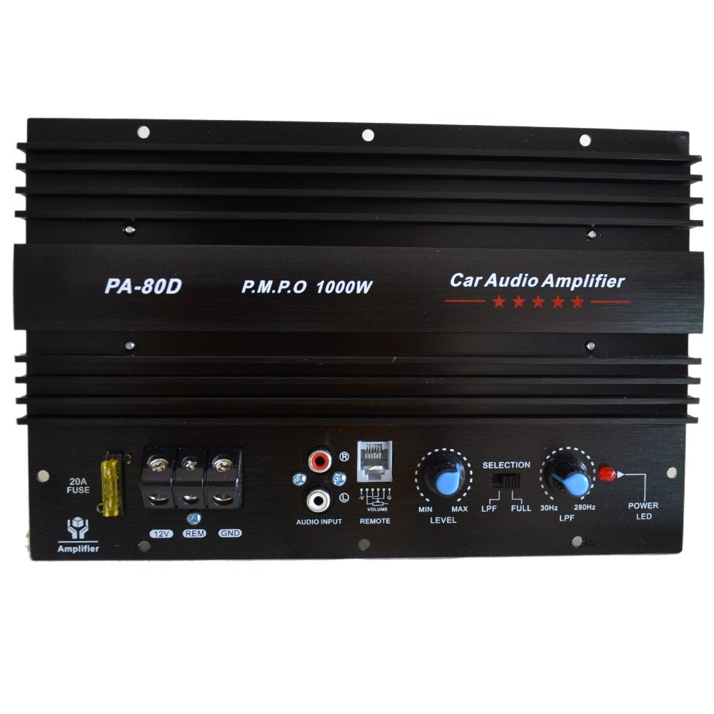 PA-80D Car Amplifie 1000W High Power Tube Amplifier Subwoofer Amplifier