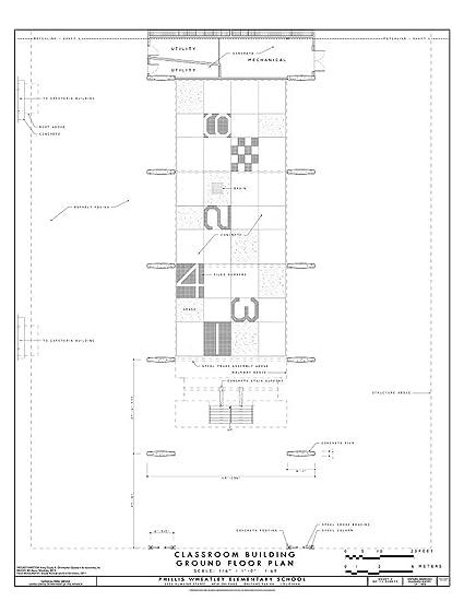 Amazon Com Historic Pictoric Blueprint Diagram Classroom Building