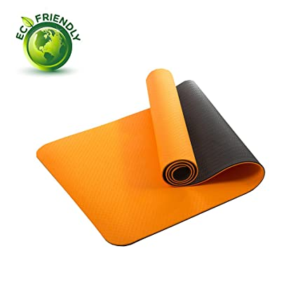6 mm TPE Bicolourable Yoga Mat multiusos alta densidad anticorte Thick ejercicio con correa de transporte