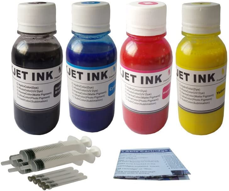 ND 4 x 100ml Pigment Ink Refill Kit for HP 970 971 970XL 971XL, HP OfficeJet Pro X451 X476 X551 X576 Printers
