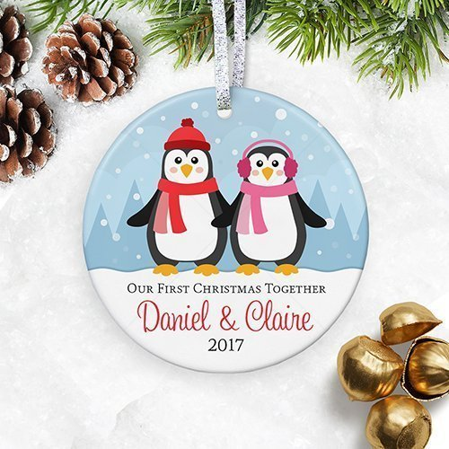 Our First Christmas Together Ornament 2018, Personalized Boyfriend  Girlfriend Engaged Gifts for Couple in Relationship - Amazon.com: Our First Christmas Together Ornament 2018, Personalized