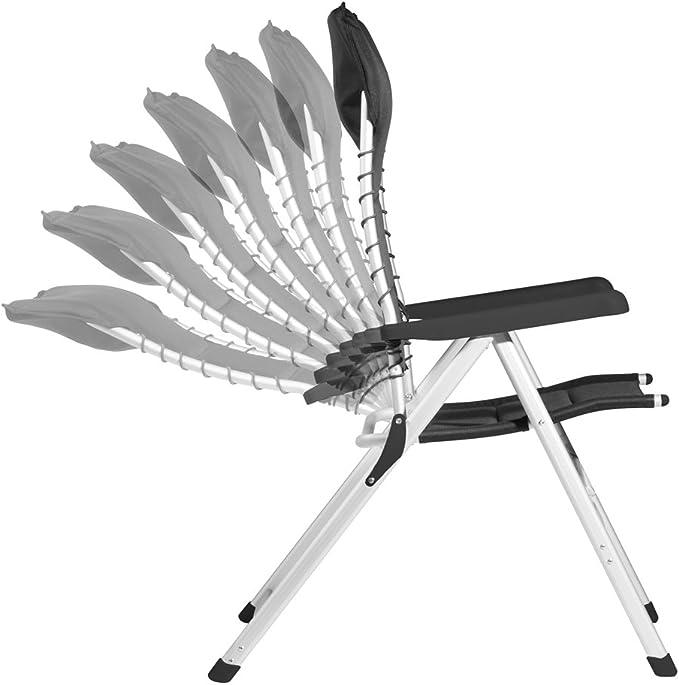 Anthracite Repose Pieds pour chaise de camping ch-0596 chaise de jardin Novara