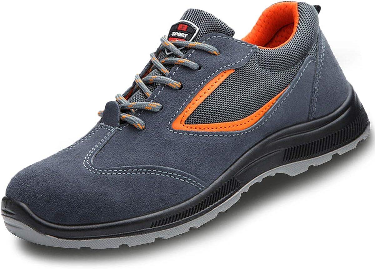 CHNHIRA Chaussures de s/écurit/é Homme Femme Embout Acier Protection Chaussures de Travail l/ég/èr Anti-crevaison Trekking Sneakers