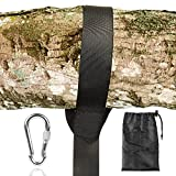 FEM0R Tree Swing Strap (5FT), Holds 660 lbs, Easy & Fast Swing Hanger Installation to Tree, Heavy Duty Carbiner for Hammocks and Swing Sets