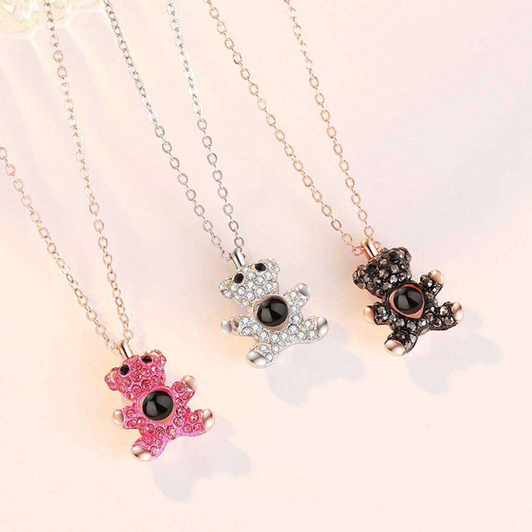 partm Women Casual Creative Bear Pendant Necklace Jewelry Gift Necklaces
