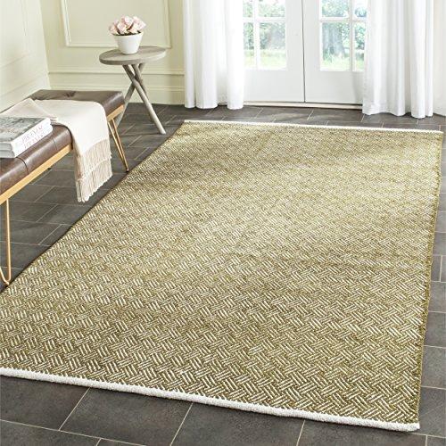 (Safavieh Boston Collection BOS680B Handmade Olive Cotton Area Rug (8' x)