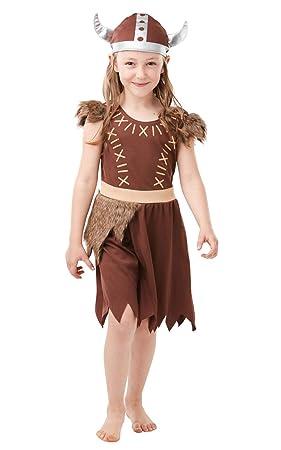 Rubies - Disfraz oficial de vikinga para niña: Amazon.es: Juguetes ...