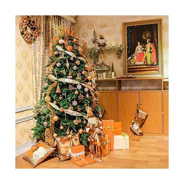 Valery Madelyn Palle di Natale 100 Pezzi di Palline di Natale, 3-5 cm di Rame del Bosco e Oro Infrangibile Ornamenti di Palla di Natale Decorazione per la Decorazione Dell'Albero di Natale 7 spesavip