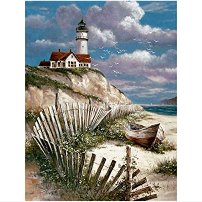 QPGGY Jigsaw Puzzles 300 Pieces for Adults Kids Landscape Lighthouse A2Wooden Puzzles Educational Games Toys for Children Animation Pairing Puzzles Gift: Toys & Games