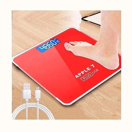 LYZZGZZ Básculas Digitales Balanza Electrónica Recargable Escala De Peso Salud del Hogar Escala Humana China Red