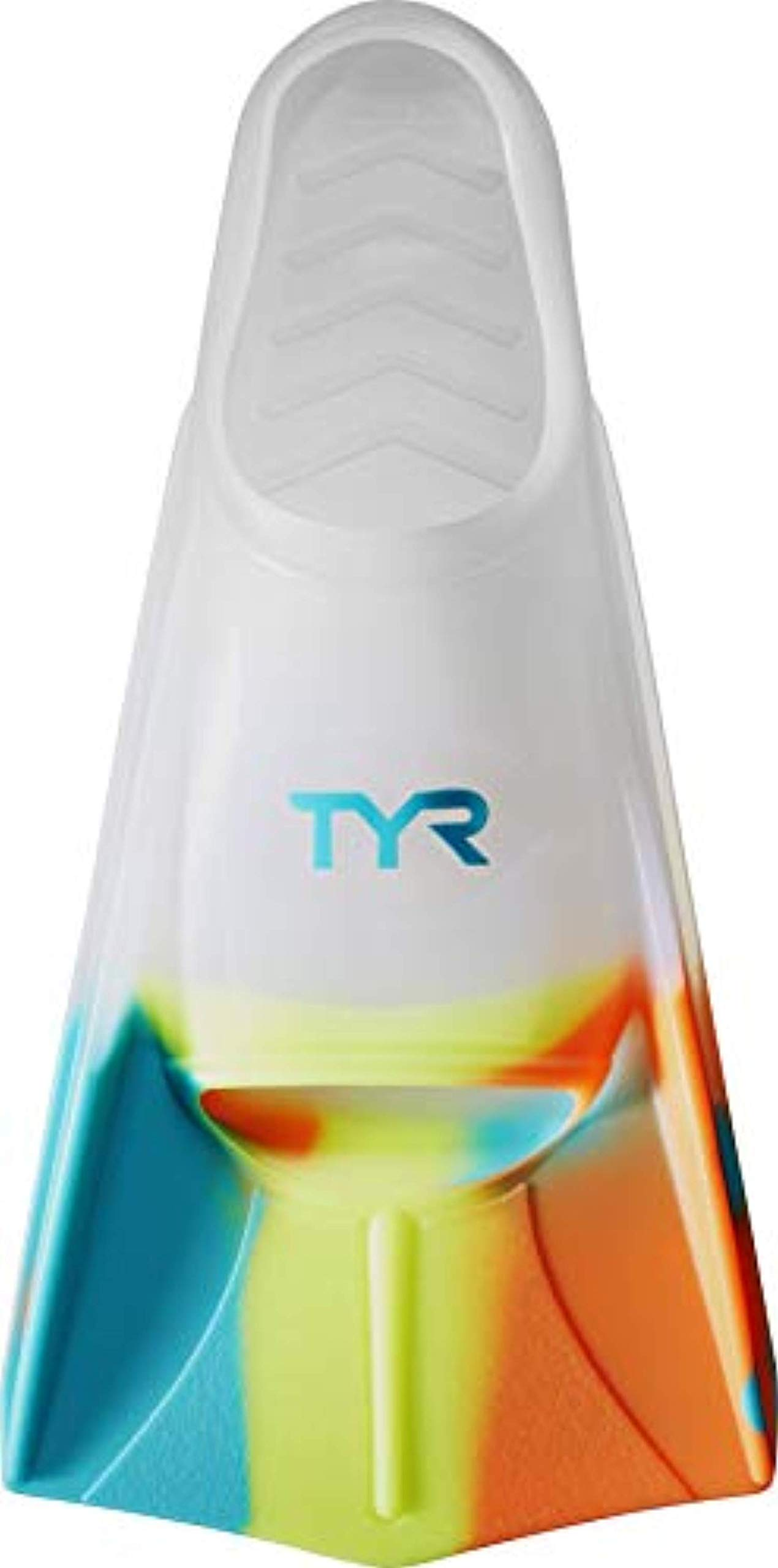 Swim Bundle: TYR Stryker Silicone Fin Clear M & Swimming Earplugs by Competition Swimwear