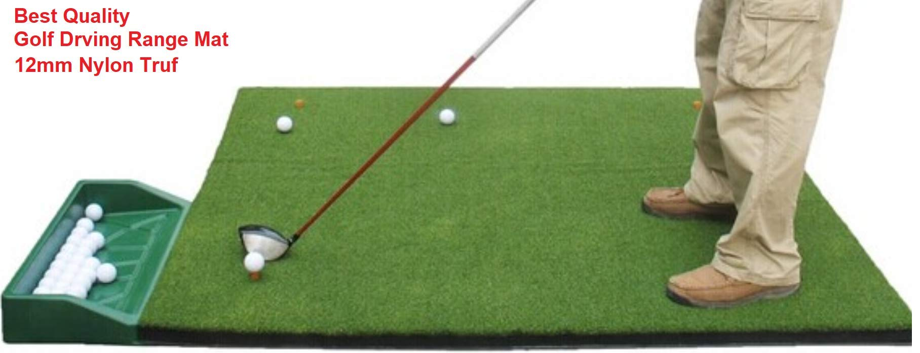 P4G 3' x 5' P4G Commercial Golf Mat ,Durable and Stable Golf Course Hitting Mat, with PE turf and TPR base, foldable Golf mats pack with carton box by P4G