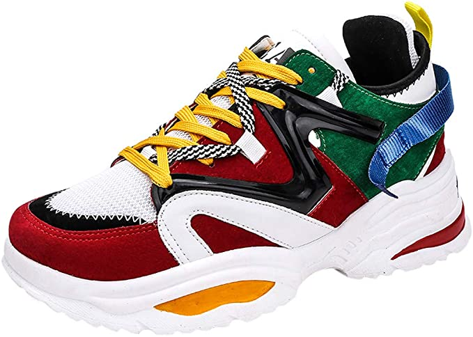 Chunky Sneakers for Men の 2019 Fall-Winter Fashion Shoes Street-Style Cool Mens Trainers Hip Hop Running Sneakers
