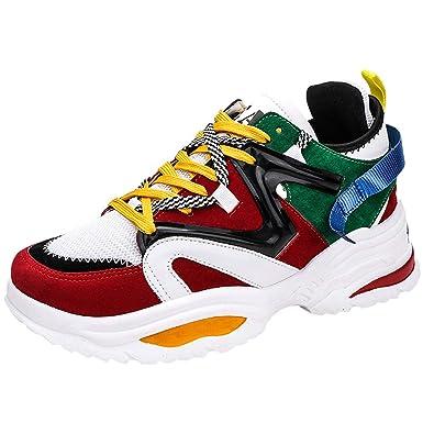 ddf1d825c7537 LILIGOD Herren Mode Atmungsaktive Schuhe Sportschuhe Schnürung ...