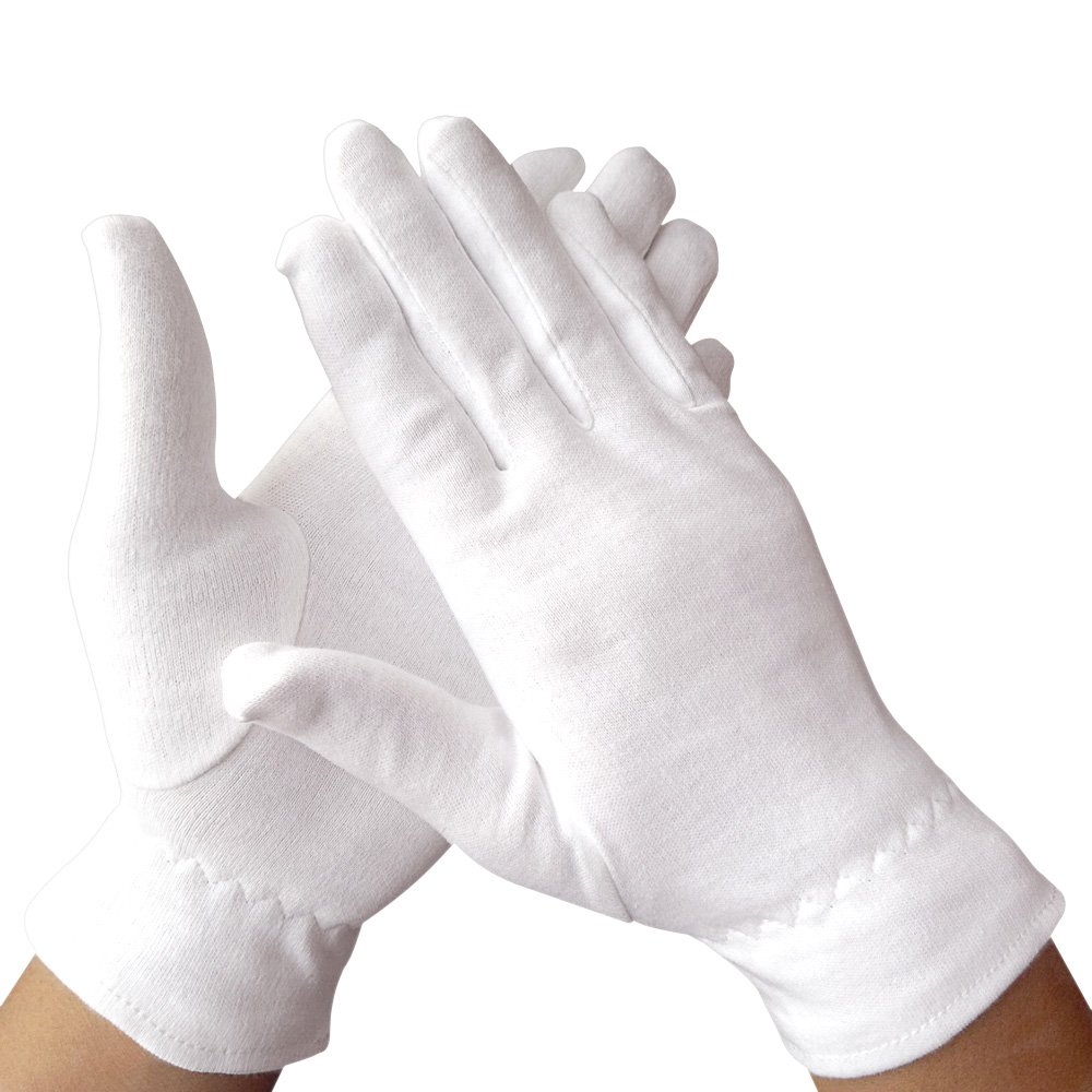 Dermrelief Cotton Gloves - for beauty, dry hands, Eczema, Dermatitis and Psoriasis (Medium, 3 Pairs)
