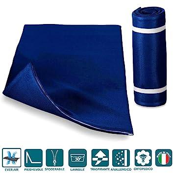 Evergreenweb - Colchón Topper Enrollable Individual 70x195cm - Soporte ergonómico – Esterilla - excelente colchón de