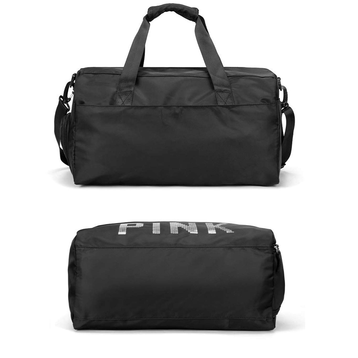 035f6f6fda10 Forestfish Swimming Travel Gym Bag Sports Duffel Bag with Dry Wet Pocket  Shoes Compartment for Men Women, Black