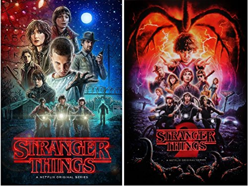 Stranger Things Posters Season 1 and 2 Posters Set (2 Posters), Size Each 24x36 (Poster Giant 2)