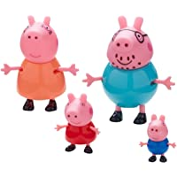 Planet Superheroes PVC Peppa Pig Family Pack with George Mamma and Daddy Figures (Multicolour)