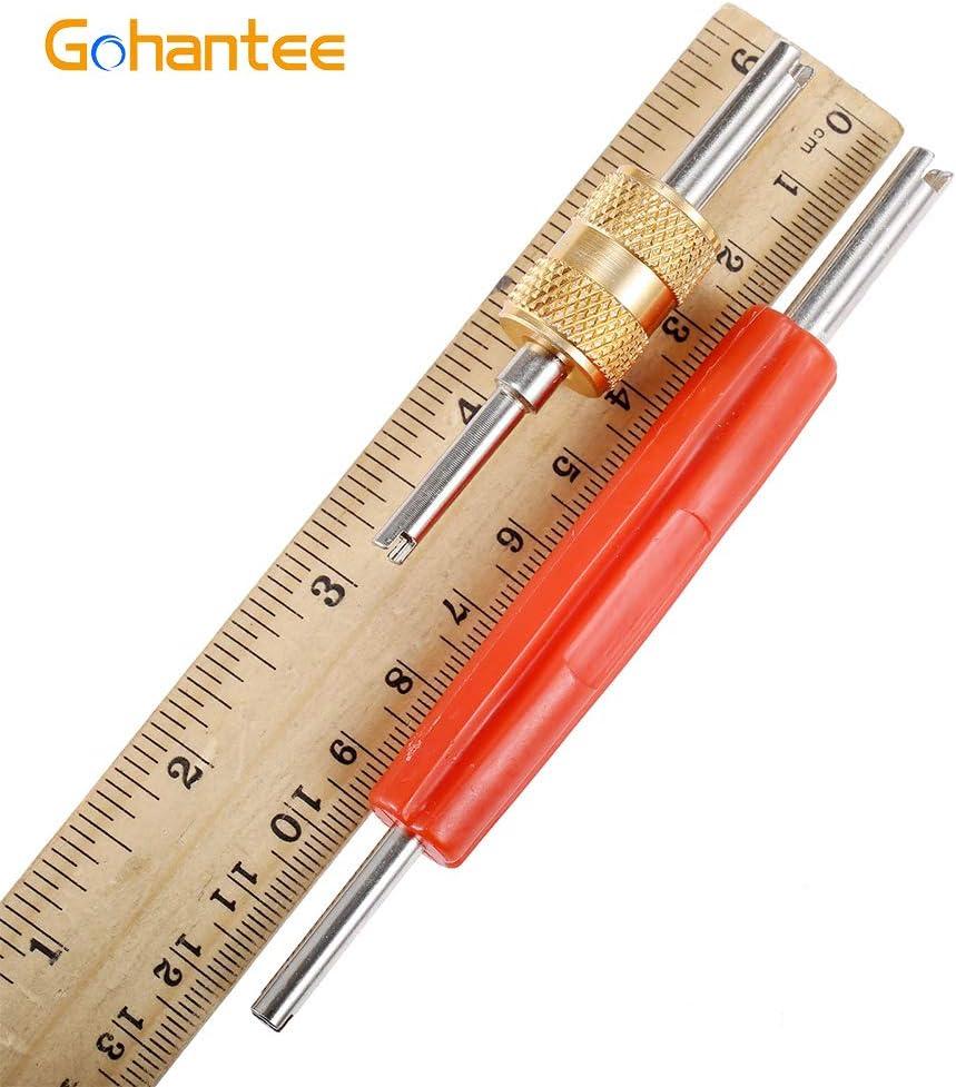 gohantee R134 R12 A//C HVAC Air Conditioner Schrader Valve Stem Core Remover Tool Dual Head Tire Repair Tools