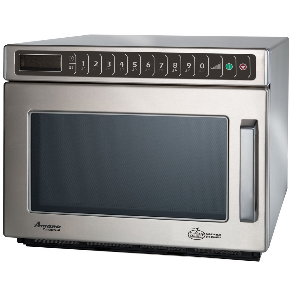 Amana Hdc182 Heavy Duty Stainless Steel Commercial Microwave
